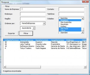 Picture 3 – Userform for filter and sort – Version 2