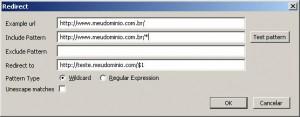 Exemplo de uso do Redirector