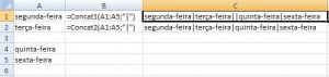 Exemplo de uso das Funções de Concatenação de Ranges