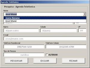 Agenda Telefonica - Tela de Pesquisa