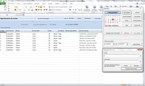 Agenda de Contas Excel - Tela Principal