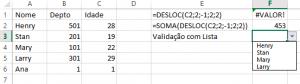 Lista com validação fixa não atualizada