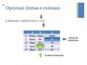 Opcional (linhas e colunas)
