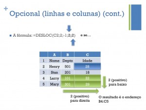 Opcional (linhas e colunas) (cont.)