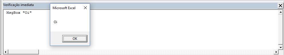 O MsbBox funcionando na Janela de Verificação Imediata