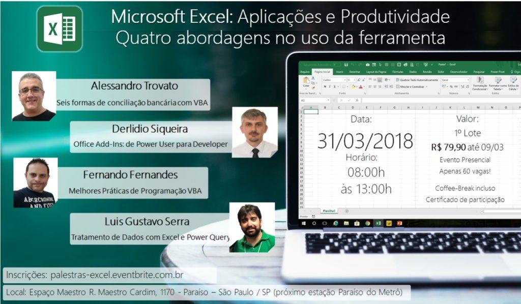 Microsoft Excel Aplicacoes Produtividade 2018